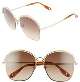 Givenchy Women's 7030/s 58Mm Oversized Sunglasses - Gold/ Beige