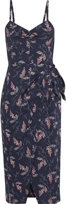 Rebecca Taylor Ivie Wrap-effect Floral-print Cotton-poplin Dress