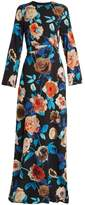 MSGM Floral-print round-neck crepe dress