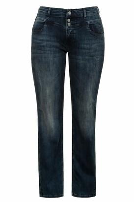 Ulla Popken Women's Straight Jeans