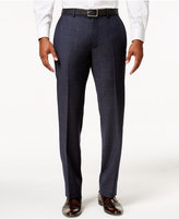 Bar III Men's Slim-Fit Navy and Tan Windowpane Dress Pants, Only at Macy's