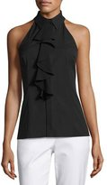 Michael Kors Ruffled Sleeveless Halter Blouse