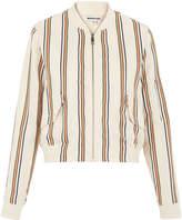 Whistles Linen Stripe Bomber