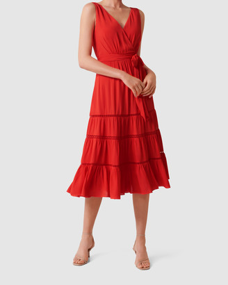 Forever New Georgia Tiered Midi Dress
