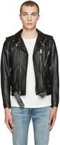 Saint Laurent Black Blood Luster Biker Jacket
