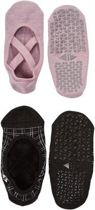 Tavi Noir Grip Chloe Assorted 2-Pack Crisscross No-Show Socks