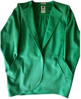 Ungaro Green Wool Coat for Women Vintage