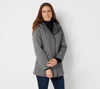 Dennis Basso Quilted Water-Resistant Snap-Front Jacket