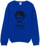 Little Karl Marc John Miou Moustache Karl Woollen Jumper