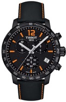 Tissot Men's Quickster Chronograph Leather Strap Watch, 42Mm