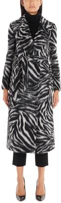 Tagliatore Belted Animalier Print Coat