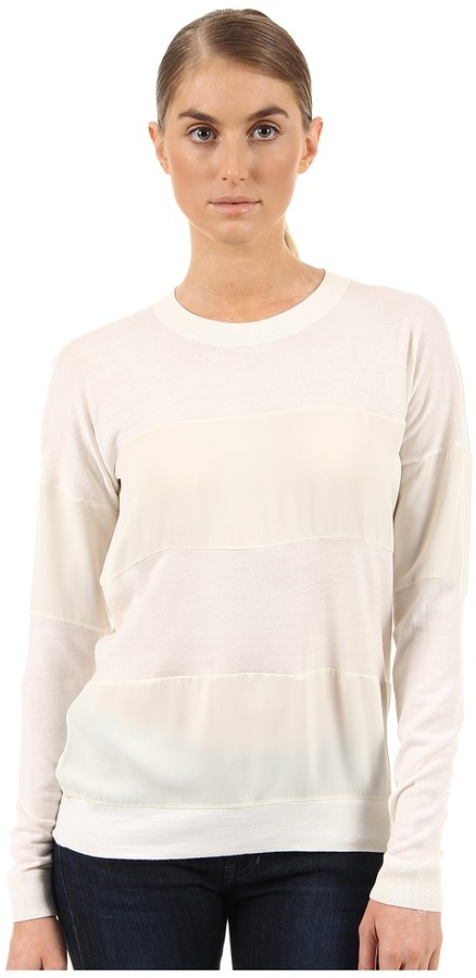 Theory Tollie SW Top (Ivory) - Apparel