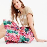 J.Crew Tall A-line skirt in Ratti® painted pineapple