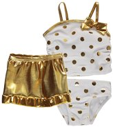 "Sol Swim Baby Girls' ""Metallic Luxe"" 3-Piece Swimsuit Set"