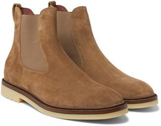 Loro Piana Winter Beatle Walk Suede Chelsea Boots