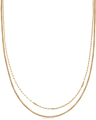 Missoma Gold Box Link Double Chain Necklace