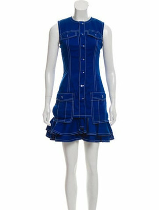Givenchy 2018 Sleeveless Knee-Length Dress w/ Tags Blue