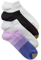 Gold Toe Women's 4-Pk. Micro Stripe No-Show Socks