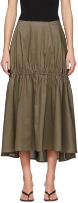 Totême Khaki Anzio Skirt