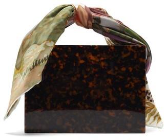 Montunas Guaria Mini Tortoiseshell Acetate Box Bag - Brown Multi