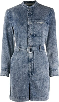 Stella McCartney Belted Denim Playsuit