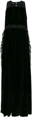 Rochas long silk dress