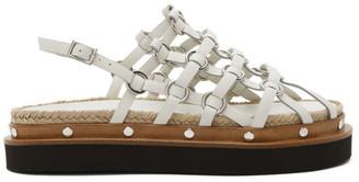 3.1 Phillip Lim White Yasmine Cage Espadrille Sandals