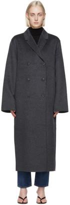 Totême Grey Double Wool Coat