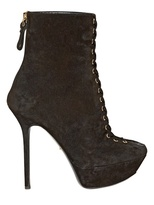 Sergio Rossi 130mm Suede Laced Boots