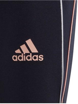 adidas Girls Cotton Leggings - Navy