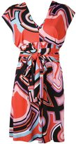 Emilio Pucci abstract print belted dress - women - Silk/Viscose - 42