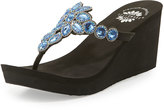 Premium Collection by Yellow Box Cerise Embellished Wedge Sandal, Royal