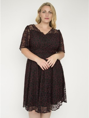 M&Co J by Jolie Moi flare sleeve belted lace dress