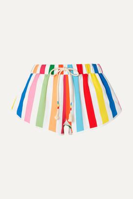 Mira Mikati Striped Crepe Shorts - Blue