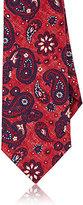 Isaia Men's Paisley Necktie-RED
