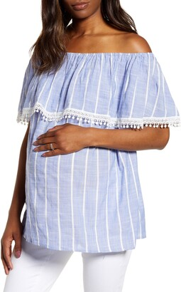 Fourteenth Place Cha Cha Off the Shoulder Maternity Top