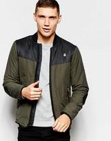 G-star Overshirt Jacket Setscale Nylon Panels In Asfalt