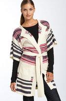 DKNY Jeans Fair Isle Sweater Coat