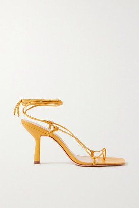 PORTE & PAIRE Knotted Leather Sandals - Marigold