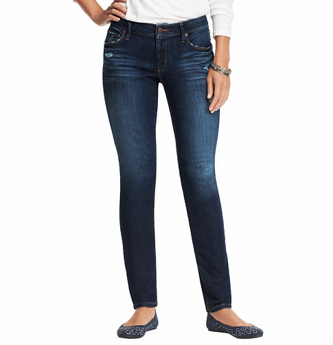 LOFT Tall Distressed Curvy Skinny Jeans in Venice Blue Wash