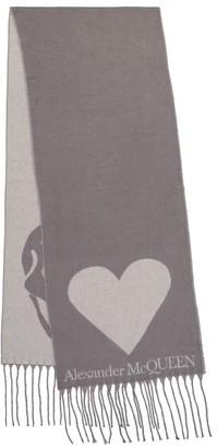 Alexander McQueen Skull intarsia wool-blend scarf