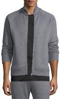 Salvatore Ferragamo Stand-Collar Zip-Front Sweatshirt
