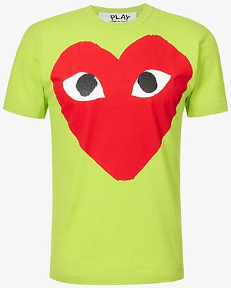 Comme des Garcons Big Heart cotton-jersey T-shirt