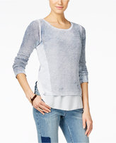 INC International Concepts Petite Acid Wash Layered-Look Sweater, Only at Macy's