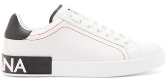 Dolce & Gabbana Logo Leather Trainers - White Multi