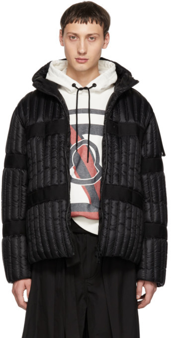 MONCLER GENIUS 5 Moncler Craig Green Black Down Halibut Hooded Jacket