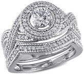 Allura 1 CT. T.W. Diamond Bridal Ring Set in 14K White Gold (GH I1-I2)