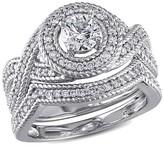 Allura 1 CT. T.W. Diamond Bridal Ring Set in 14K White Gold (GH I1-I2)