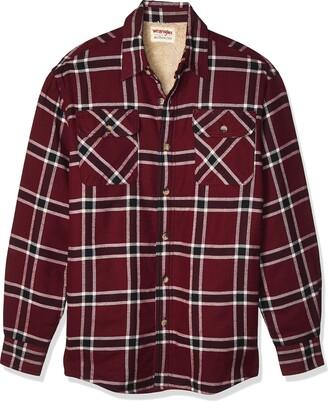 Wrangler Men's Flannel Shirt Jacket - red - XXL