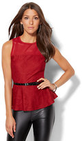 New York & Co. 7th Avenue Design Studio - Mesh Panel Peplum Top